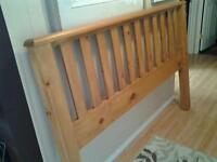 Queen size Solid pine headboard and rails