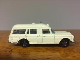 """Rare original Matchbox Series No. 3 Mercedes Benz """"Binz"""" Ambulance Lesney Retro toy car Corgi Dinky"""