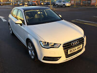 A3 Sportback Sport 1.4 TFSI 1 auto, only 10,500 miles, new Sat Nav SD, Bluetooth for phone and iPod