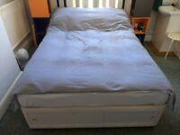 Divan King Size bed & Pallet Headboard