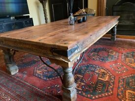 Coffee table - large hand carved Indian