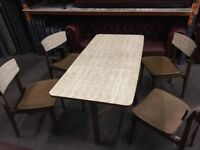 Vintage Retro formica dining kitchen gate leg table and chairs
