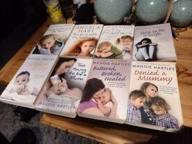book bundle of 8 maggie hartley true life paper back books