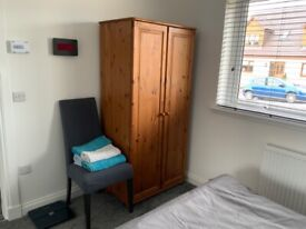 Solid Pine wardrobe with shelf and rail