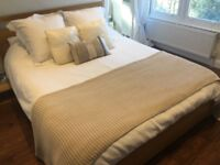 White Company Bed Throw Quilt
