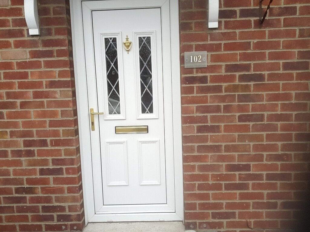 White Upvc Front Door And Frame In Hull East Yorkshire