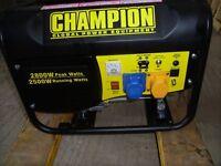 Champion 2.5 kva. generator, nearly new