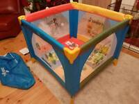 Babylo Safari Friends Playpen and Travel Cot 2-in-1