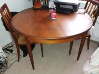 Dining table and chairs extendable