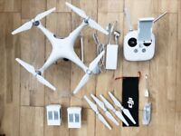 DJI Phantom 4 with 2 batteries & Memory card
