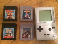 Gameboy Pocket and Four Games