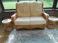 soild conservotory sofa and 2 chairs perfect condition