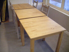 Solid wood tables & chairs