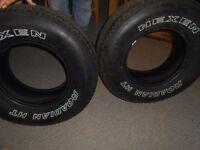 """2 x new 4x4 tyres 255x70x15"""""""