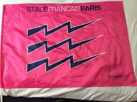 Stade Francais supporter flag and pole