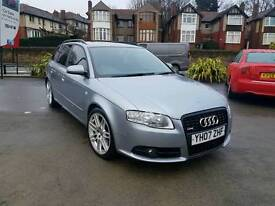 2007 AUDI A4 AVANT 2.0 TDI QUATTRO 170BHP S LINE SPECIAL EDITION MANUAL ESTATE F.A.S.H FULLY LOADED