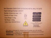 Babystart Extending Metal Gate (as new, unused)