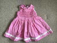 Designer Rachel Riley Baby Girls dress 6 months