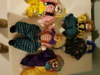 JOB LOT OF 5 CLOWNS COLLECTABLE