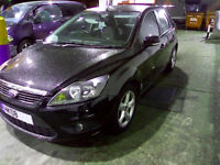 2008 08 ford focus 1.8 tdci zetec in black with 141k miles 2 owners - bodywork dents/scratches tlc