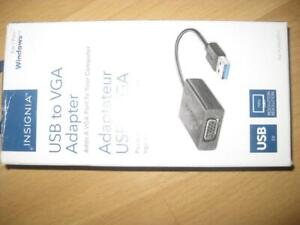 Insignia USB 3.0 to VGA Cable Adapter. Extend the Display. For Laptop / Computer / Surface to HD TV Monitor / Projector