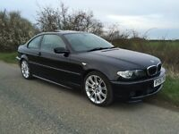 2005 BMW E46 330d Coupe M-Sport, Manual, Black, Leather, Sunroof