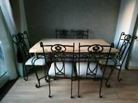 Bespoke Dining table and chairs
