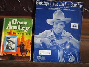 Vintage Gene Autry book and sheet music