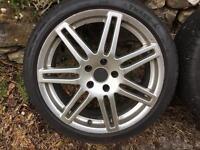 """Audi rs4 style 18"""" alloy wheels vw passat Skoda superb seat Leon a4 a6"""