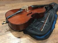 1/4 size Stringers student cello - excellent condition