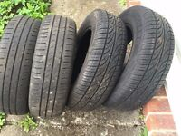 Four tyres for Vauxhall Corsa