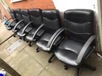6 leather office chairs