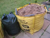 Big patio tile + concrete/bricks/subsoil/soil rubble (about 4 tonnes)