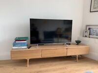 Conrad designed oak scandi style TV cabinet