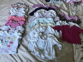 Baby bundle of tops, trousers and dresses. Over 45 items