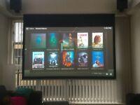 BUNDLE* Optoma HD142X 1080p 3000 Lumens 3D DLP Home Projector, 2 metre screen and Firestick