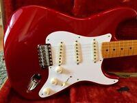 Fender 57 Stratocaster. FSR 50's MIM Strat. Nitro Candy Apple Red.