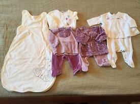 0-3 month premium bundle baby girls clothes
