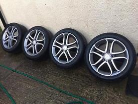 "Genuine 17"" Mercedes wheels with like new Pirelli tyres"