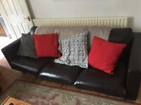 X2 real leather sofas