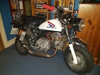 Very clean Monkeybike 50 cc replica honda z50j with c90 engine lovely monkey bike must see!!!