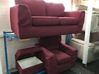 NEW / DFS SOFA + 1 SEATER CHAIR + OTTOMAN FOOTSTOOL