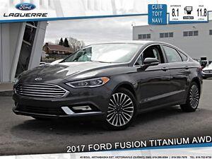 2017 Ford Fusion **TITANIUM*AWD*CUIR*TOIT* NAVI*CRUISE*A/C**