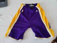 LOS ANGELES LAKERS ADIDAS GENUINE MEDIUM SHORTS FOR TEENAGERS IN VERY GOOD CONDITION