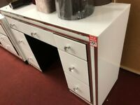 white glass dressing table