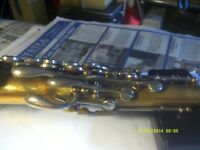A SOPRANO SAXOPHONE In GOLD LACQUER .with GOOD CASE & MOUTHPIECE .by ROBERT MARTEL