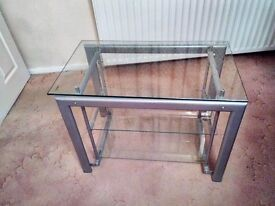 Glass TV Stand with 3 shelves in excellent condition