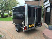 Tickners GP75 Box Trailer 7x5x5 750 Kilos In Gloss Black