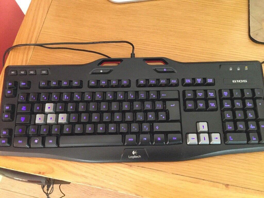 logitech g105 gaming keyboard in cramlington northumberland gumtree. Black Bedroom Furniture Sets. Home Design Ideas