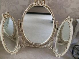 Regency triple dressing table mirror